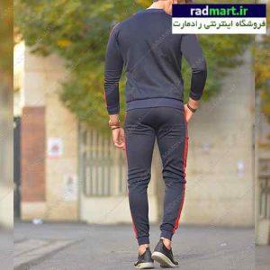 ست لباس ورزشی مردانه سوئيشرت و شلوار بارسلونا